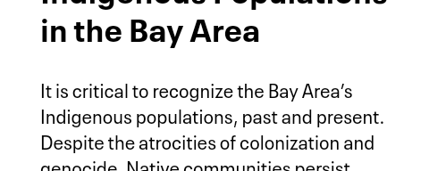Indigenous Populations in the Bay Area | Bay Area Equity Atlas