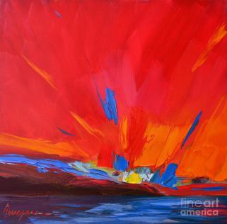 red-sunset-abstract-patricia-awapara