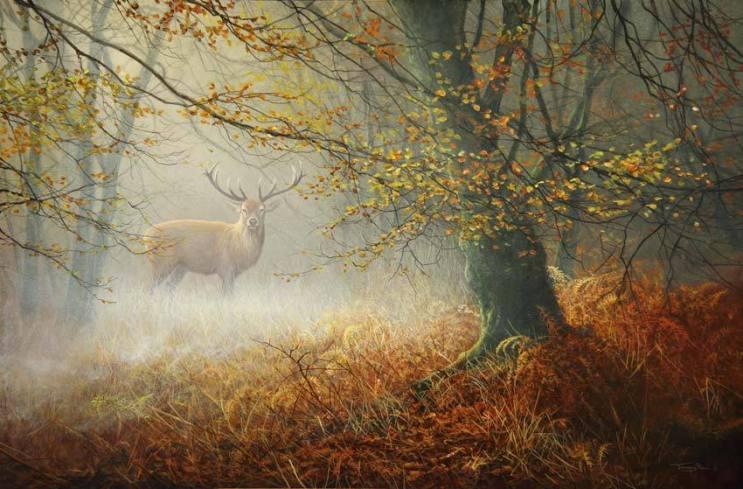 1299-Rising-mist-red-deer-photo