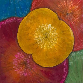 lotus-leaf-bright-colors-amoroqie-art