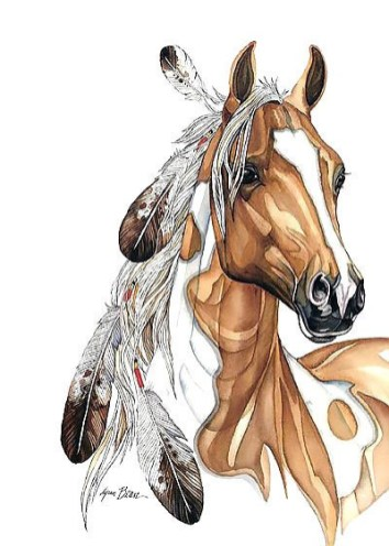 Amazing_native_american_horse_with_feathers_tattoo_design