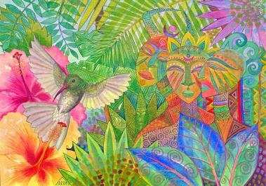jungle-spirits-and-humming-bird-jennifer-baird