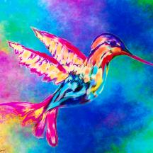 hummingbird-in-summer-sky-abstract-angel-artist-stephen-k