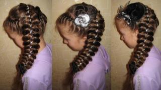 Прически для девочек на длинные волосы11