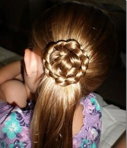 Прически для девочек на длинные волосы27