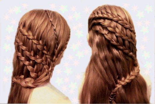 Прически для девочек на длинные волосы38
