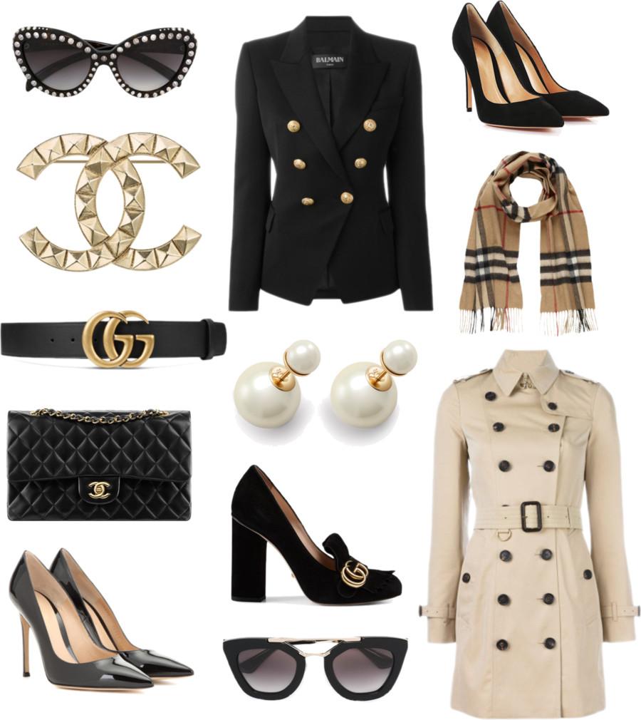 Chanel, Gucci, Burberry, Prada