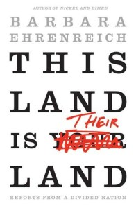 book jacket title is this land is your land but then your is scratched out with bright red marker and replaced with their