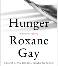 book jacket of Hunger by Roxane Gay with partial image of spoon