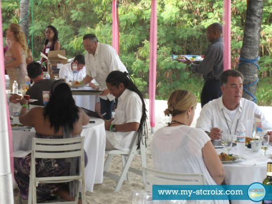 Taste of St Croix Celebrity Chef Judges Govind Armstrong Ana Sortun
