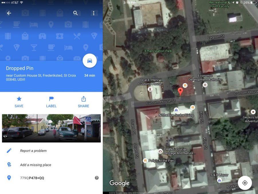 Google Street View St Croix on iPad