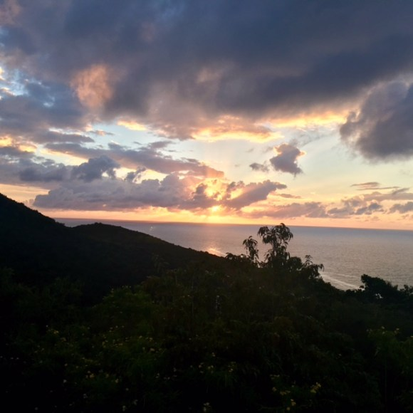 sunset from st croix light house