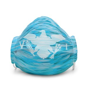USVI Flag Ocean face mask
