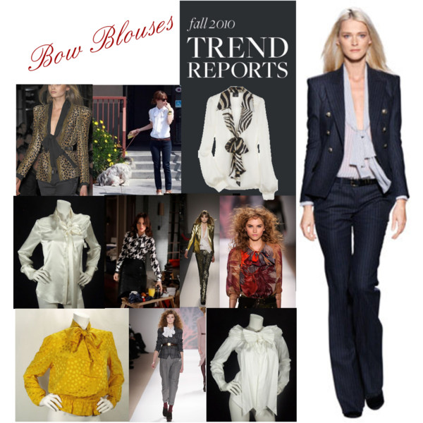 Fall 2010 Trend- Bow Blouses
