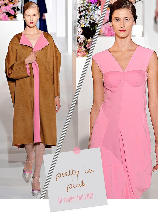 Style Therapy Jil Sander Pretty in Pink Fall 2012