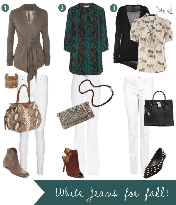 Style Therapy Styling White Jeans For Fall 2012
