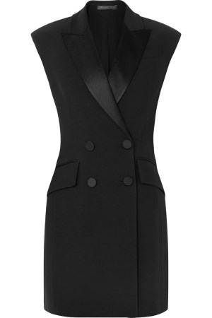 Alexander McQueen Double-breasted Crepe Tuxedo Mini Dress $1985