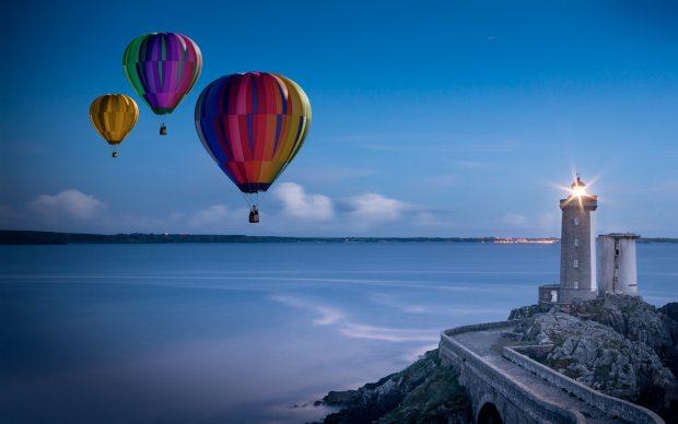 balloon-beach-clouds-428625