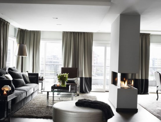 images of living room wall decor furniture placement fireplace tv stylish grey color in norway - my-sweet-house