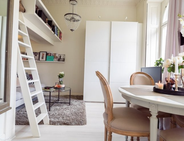 cozy chairs small spaces youth swivel chair tiny apartment in sweden - my-sweet-house