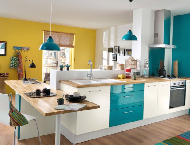 Very bright kitchen ideas  13 photos  MySweetHouse
