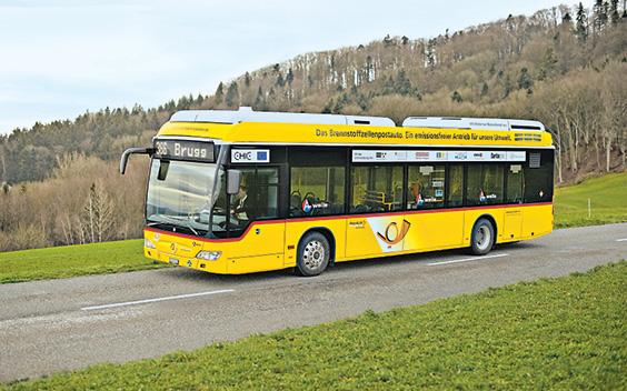 Почтовый автобус почты Швейцарии