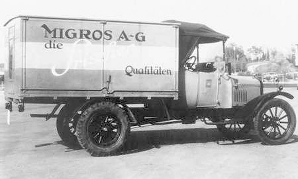Передвижная торговая лавка Migros на базе грузовика Форд