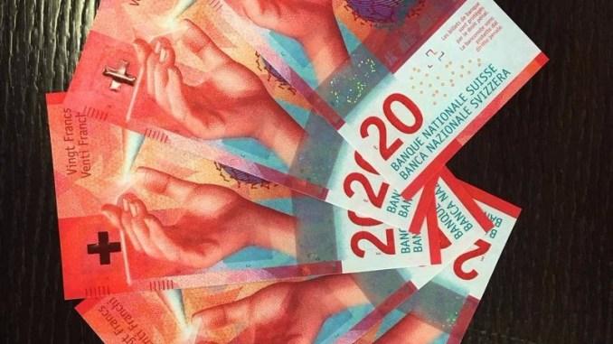 Новые купюры в 20 швейцарских франков