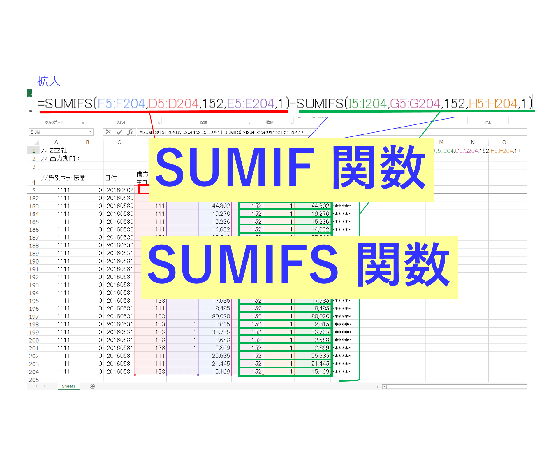 Excel Sumif Sumifs