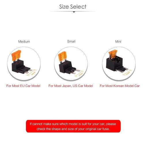 small resolution of small size by hitcar car vehicle fuse box holder adapter cable tap with 5amp fuse circuit