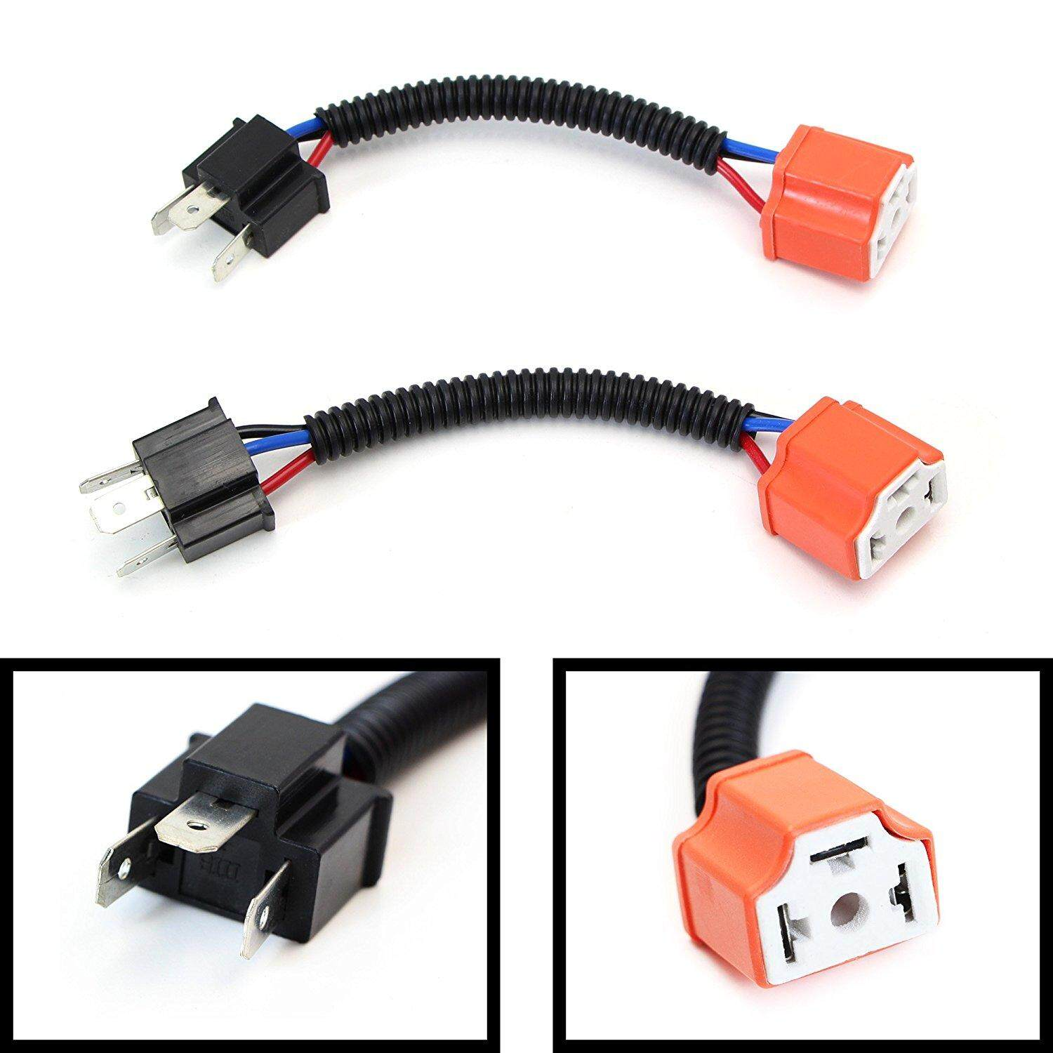 hight resolution of product details of h4 high quality ceramic wiring harness sockets car lamp adapter cable specification h4 ceramic head adapter cable package 2pcs intl