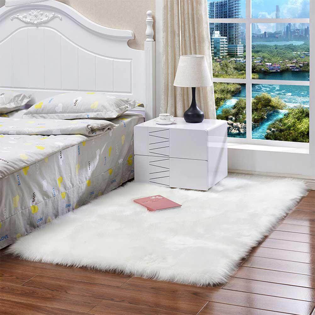 Sheepskin Chair Covers Big House Washable Faux Sheepskin Chair Cover Warm Hairy Wool Carpet Seat Pad Fluffy Area Rugs