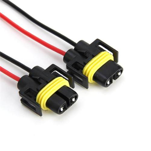 small resolution of product details of jettingbuy 2pcs h8 h9 h11 male adapter wiring harness socket car wire connector cable plug