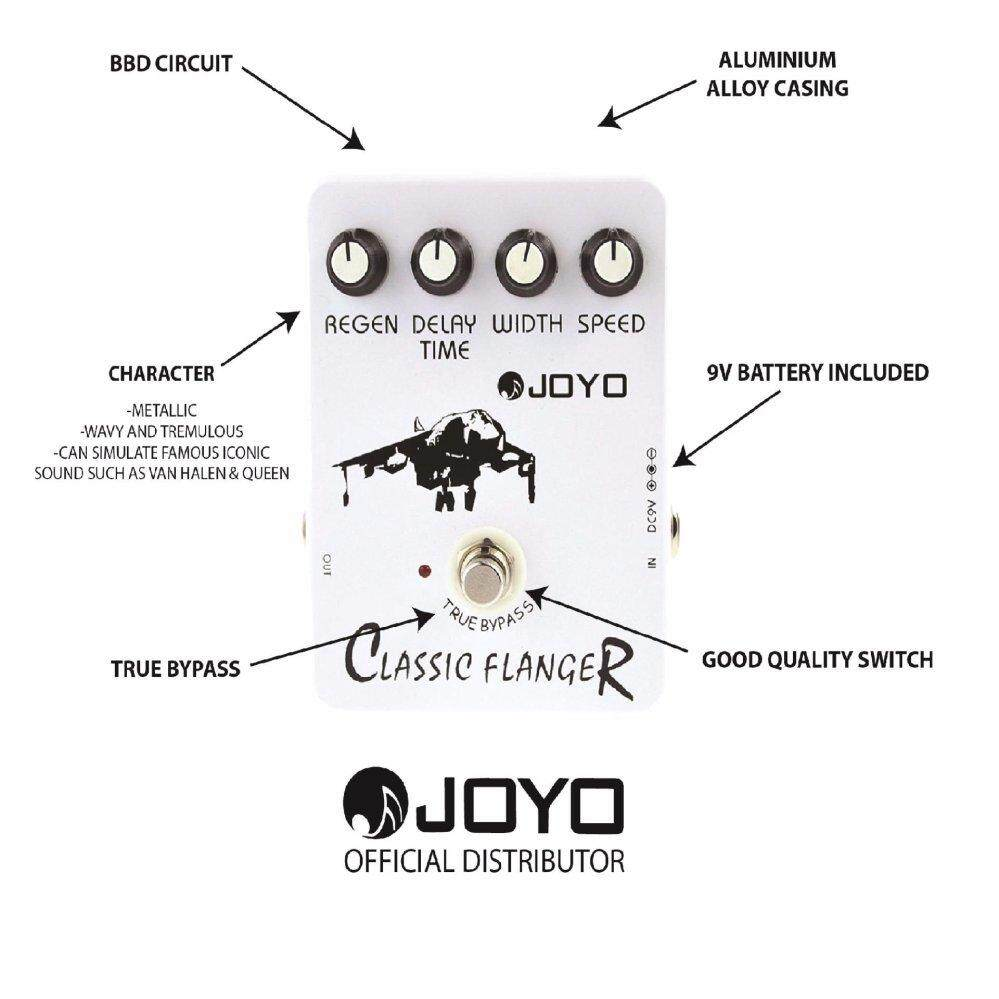 medium resolution of joyo jf 07 classic flanger effect guitar pedal with free patch cable lazada
