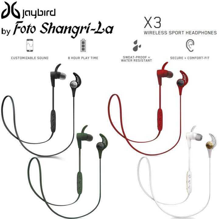 JayBird X3 Wireless Bluetooth In-Ear Sport Earphone