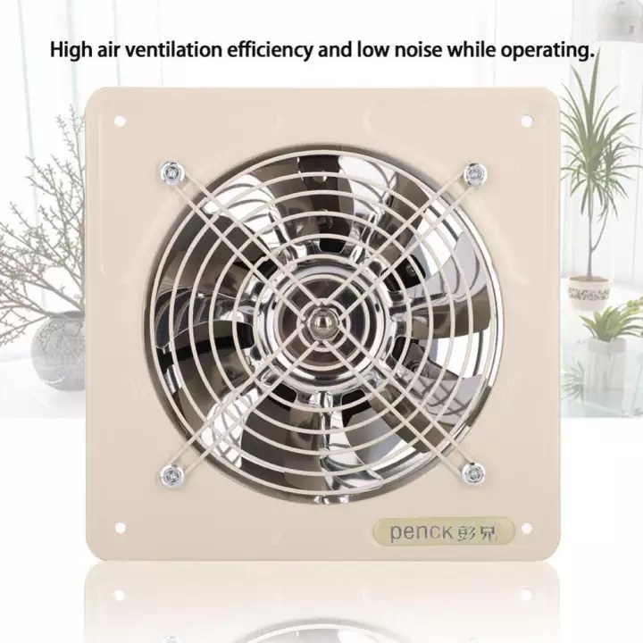 Minxin 40w 220v Wall Mounted Exhaust Fan Low Noise Home Bathroom Kitchen Garage Ventilation Beige Lazada