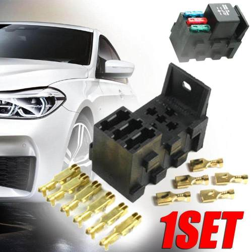 small resolution of relay 3 fuse base kit 4 5 pin flasher relay ato fuses holder socket box by