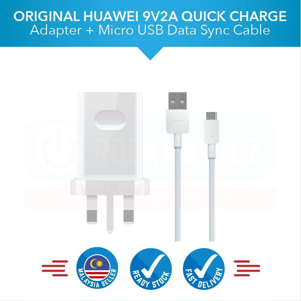 medium resolution of original huawei 9v2a travel charger adapter with micro usb fast charging 2 0a data cable for