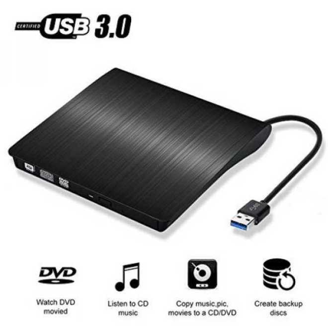 Penulis DVD Eksternal, YOKKAO USB 3.0 Universal Portabel Externalslot Dvd Cd R/RW Burner Mendorong Pasang dan Mainkan untuk Laptop, desktop, Buah, Apple Macbook, Macbook Pro dan Lainnya-Internasional