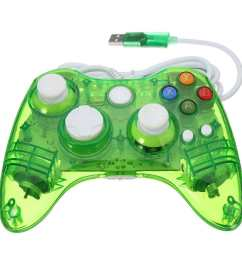 glow led colors wired usb controller gamepad fit for microsoft xbox 360 pc green [ 1200 x 1200 Pixel ]