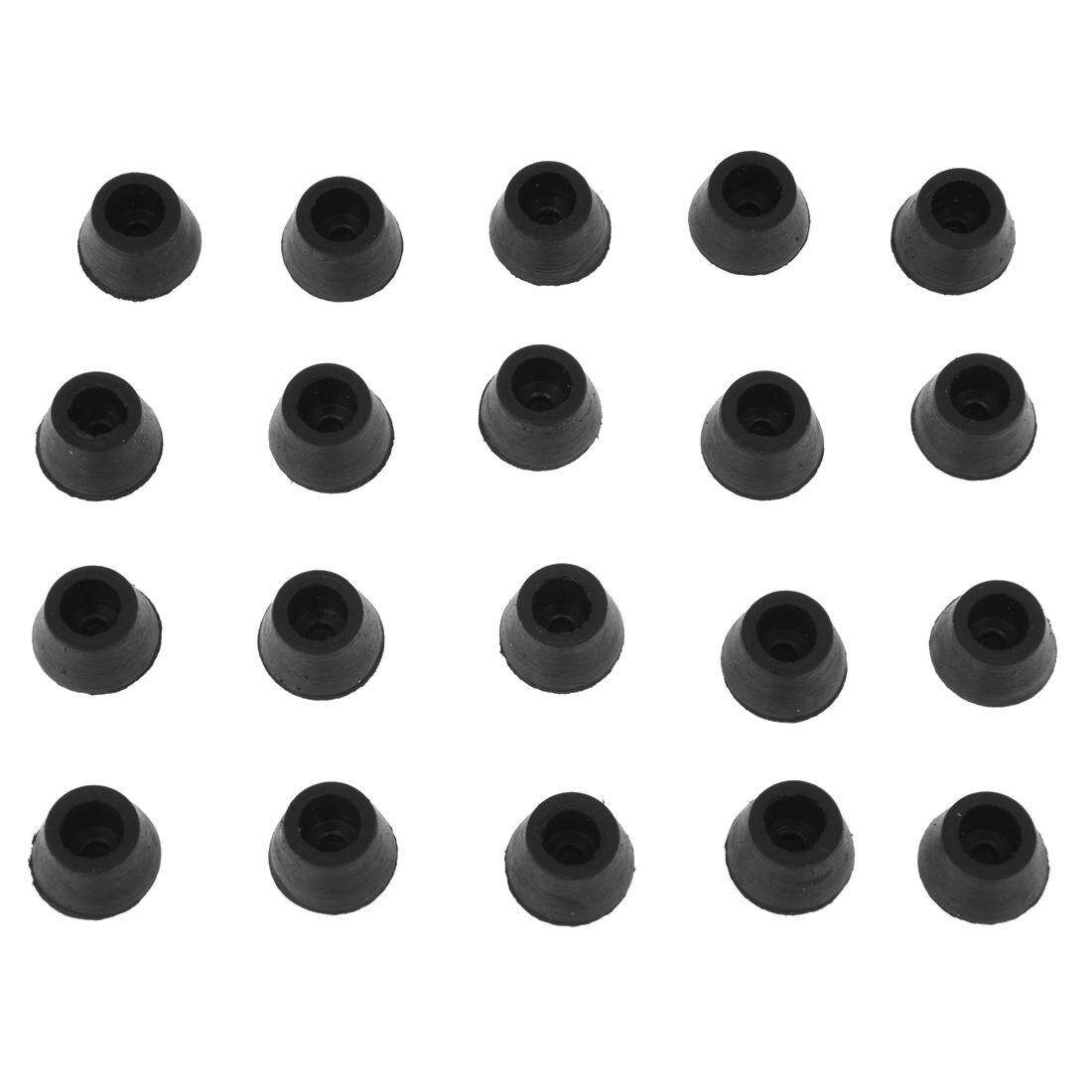 Chair Foot Caps 20pcs Black Chair Couch Table Rubber Furniture Leg End Caps 16mm Dia Intl Intl