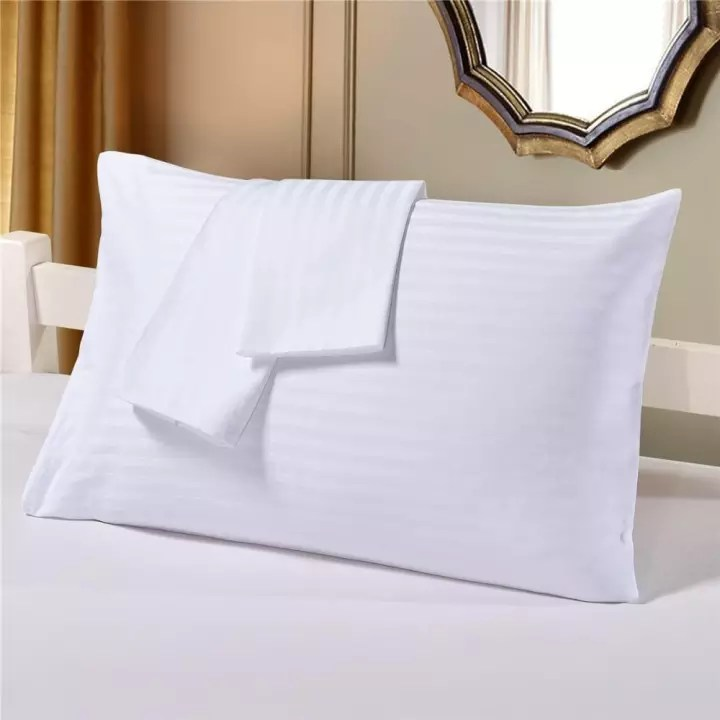 2pcs white stripe exclusive hotel pillow cases rayna hotel collection