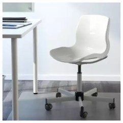 Ikea Office Chair White Anka High 590 462 61 Snille Swivel Plastic Computer