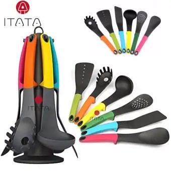 ITATA 6 Pcs Non Stick Cookware Gadgets Kitchen Utensils Colorful