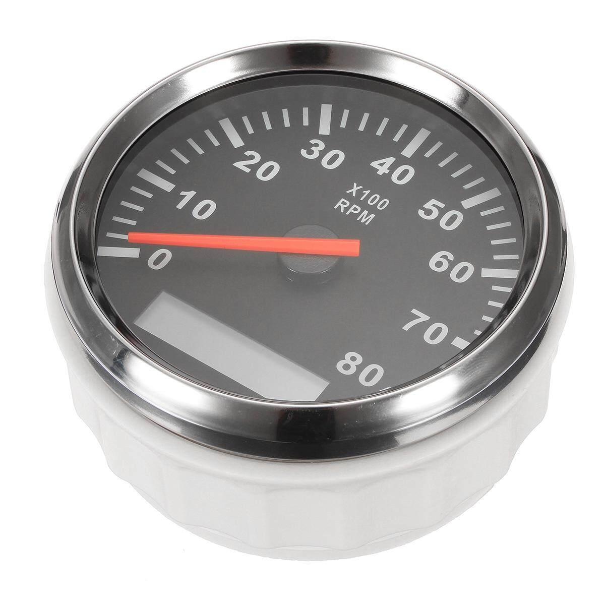 hight resolution of product details of kus boat tachometer marine tacho meter gauge lcd hourmeter 12v 24v 8000 rpm 85mm intl convenient installation