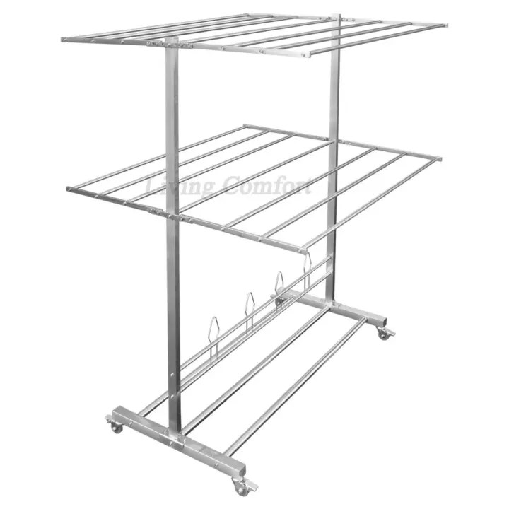 rm6200 stainless steel heavy duty foldable drying rack