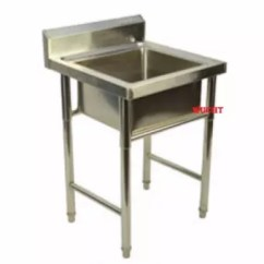Single Bowl Stainless Kitchen Sink Shelving Steel Commercial Lazada