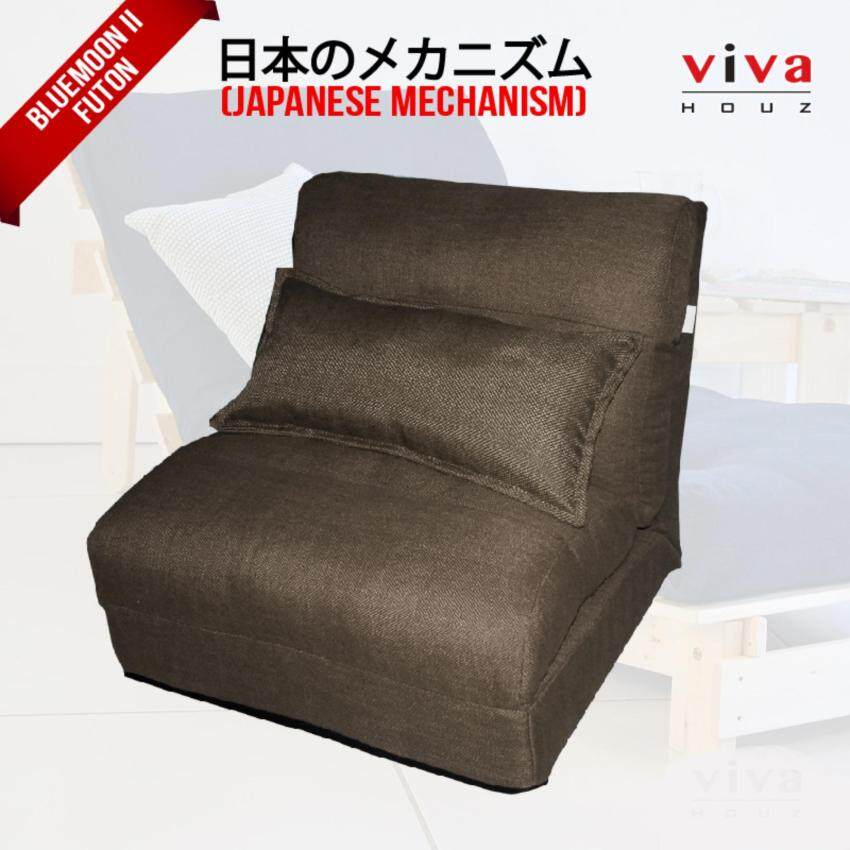 foldable sofa chair malaysia covers for weddings amazon home futons daybeds buy at best price in viva houz bluemoon ii futon made brown