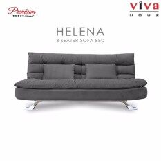 Viva Houz Helena 3 Seater Sofa Bed Full Fabric Removable Cover Light
