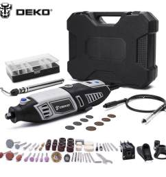 deko gj201 lcd variable speed rotary tool dremel style engraver electric mini drill grinder [ 1000 x 1000 Pixel ]